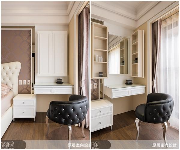 梳妆台隐藏在衣柜里设计图展示图片