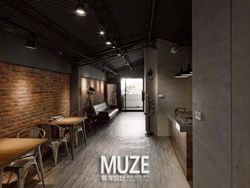 文化石,水泥粉光与裸露天花板的工业感设计