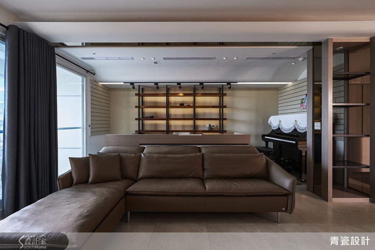 主卧室多功能几何造型墙成为焦点